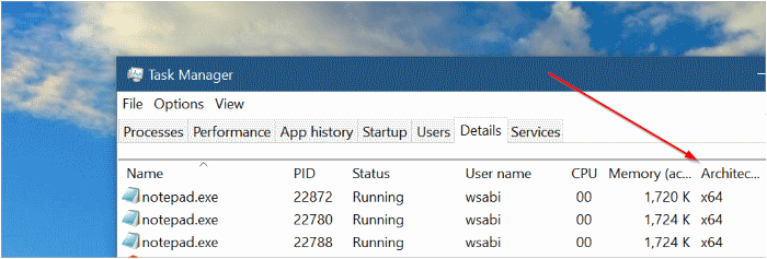 check if the program is installed in 64 bits or 32 bits in Windows 10